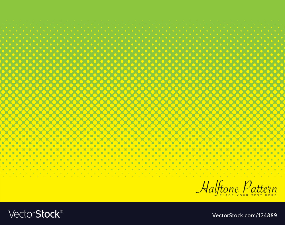 Green and yellow halftone pattern