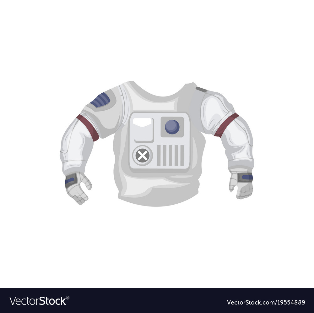 Jacket of space suit isolated icon