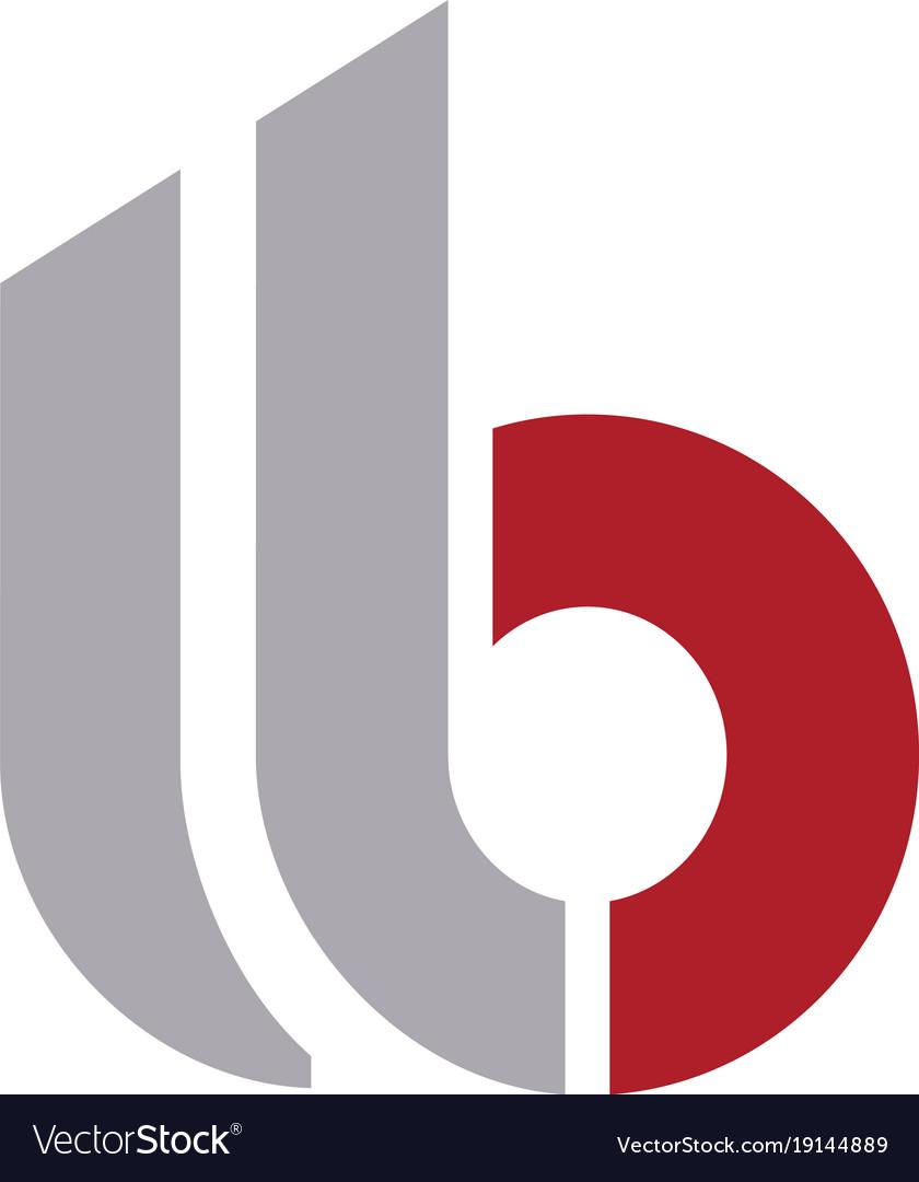 B Logo letter b logo royalty free vector image - vectorstock