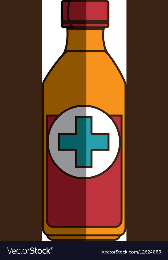 Medicine bottle isolated icon