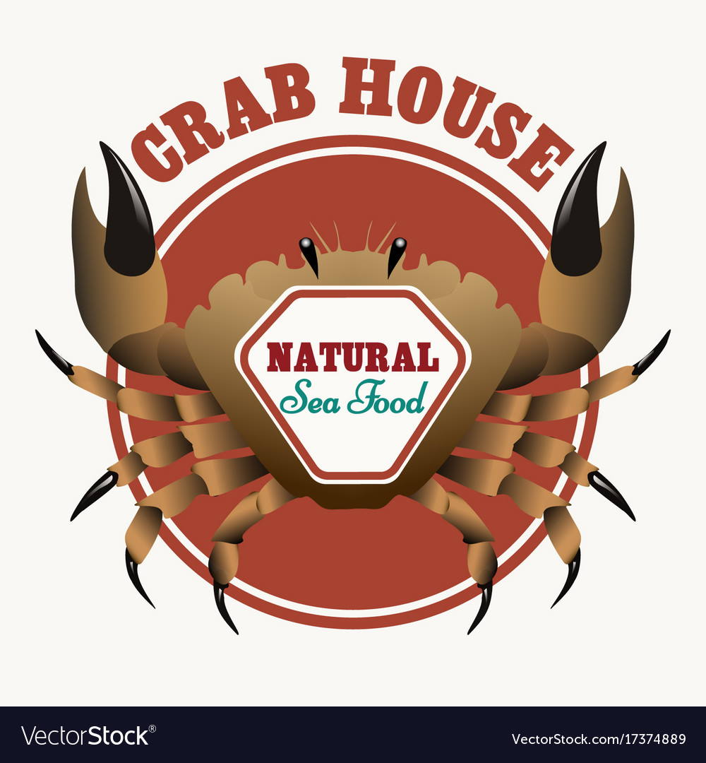 Sea food restaurant emblem