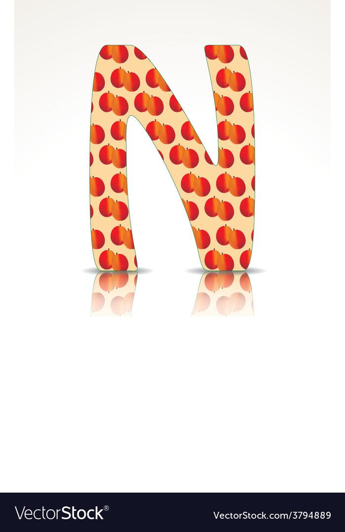 The letter n alphabet made nectarine