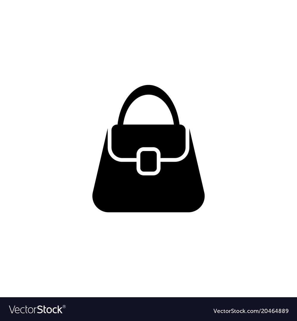 5cda60a8b7 Woman bag flat icon Royalty Free Vector Image - VectorStock