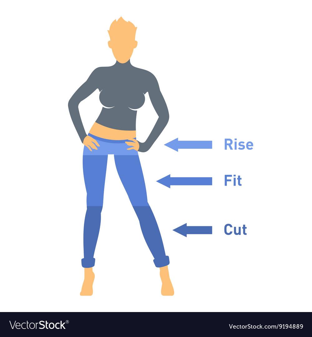 Women Jeans Parts Set