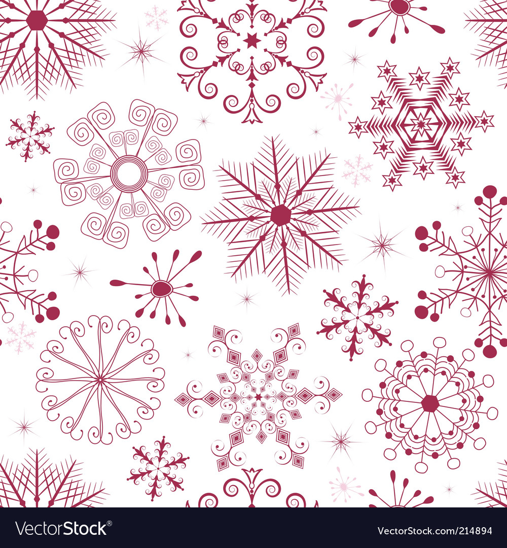red and pink snowflakes
