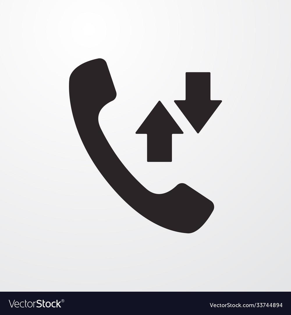 Incoming and outgoing calls sign icon