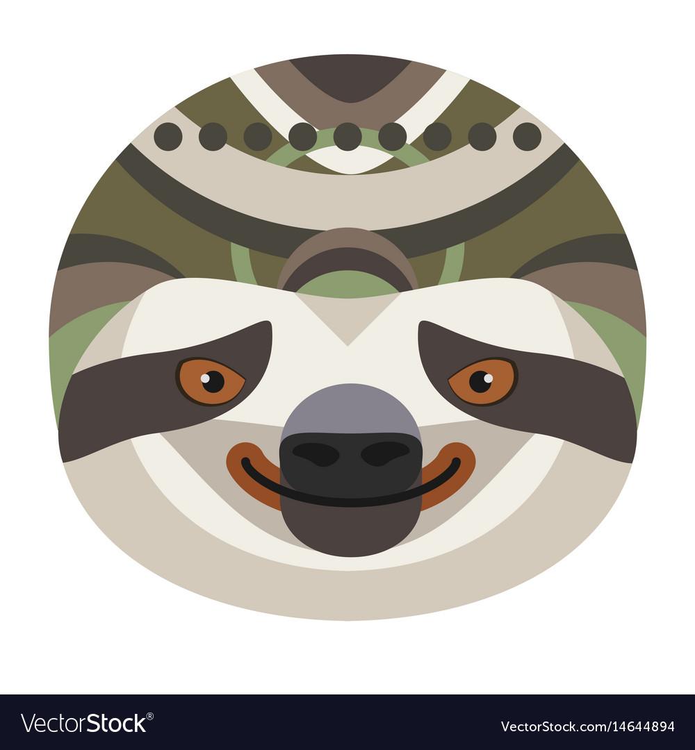 Sloth head logo decorative emblem