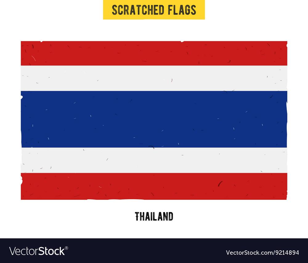 Thai grunge flag
