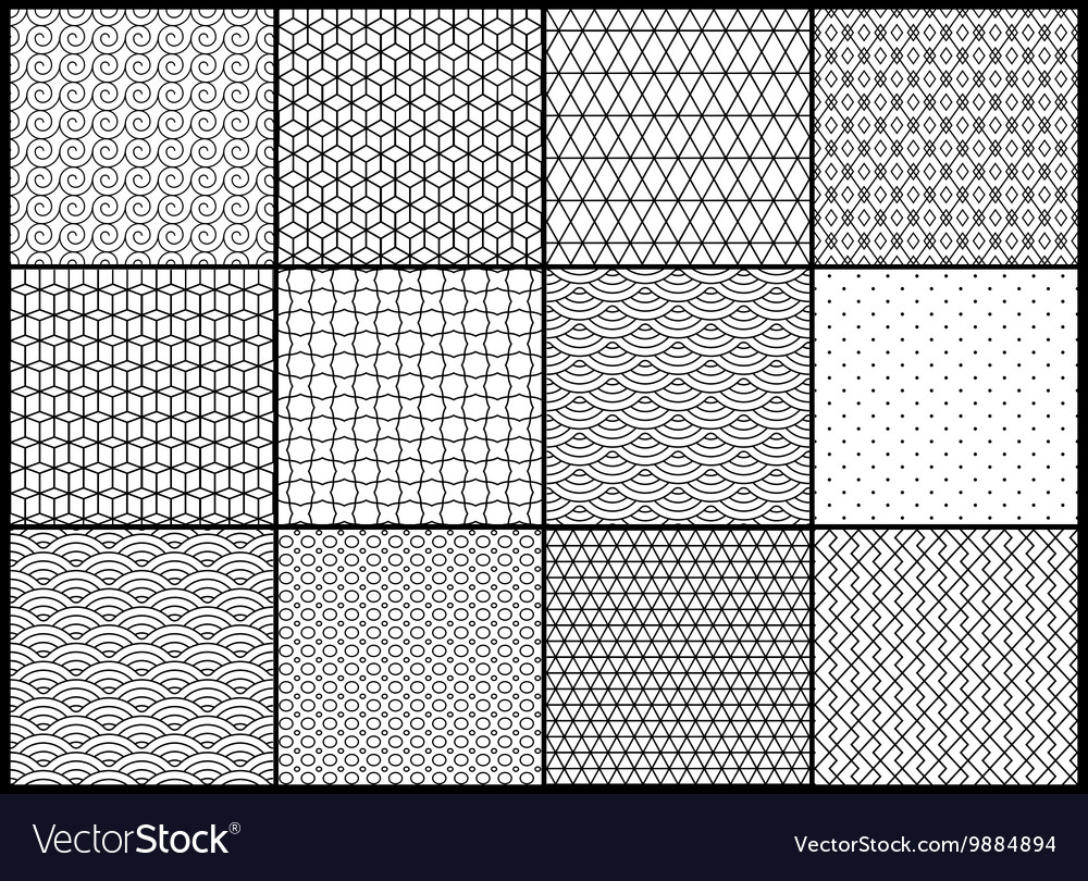 Universal different seamless patterns