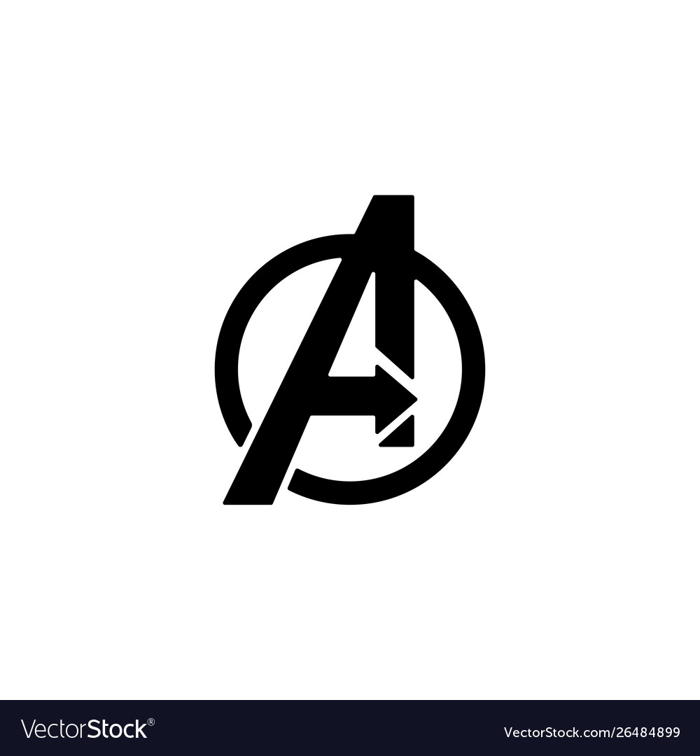 avengers logo isolated icon symbol clipart vector image vectorstock