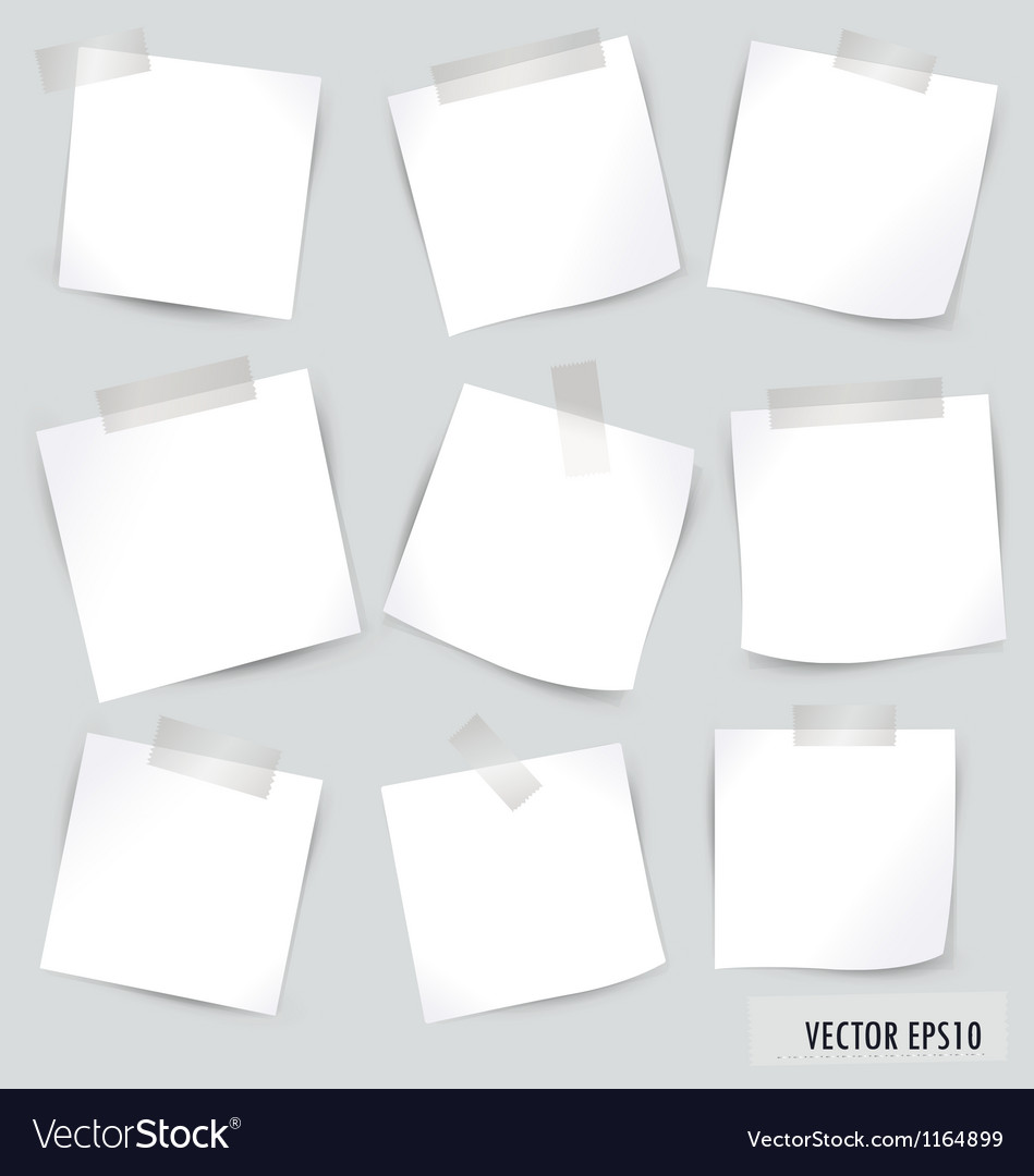 Collection of various white note papers