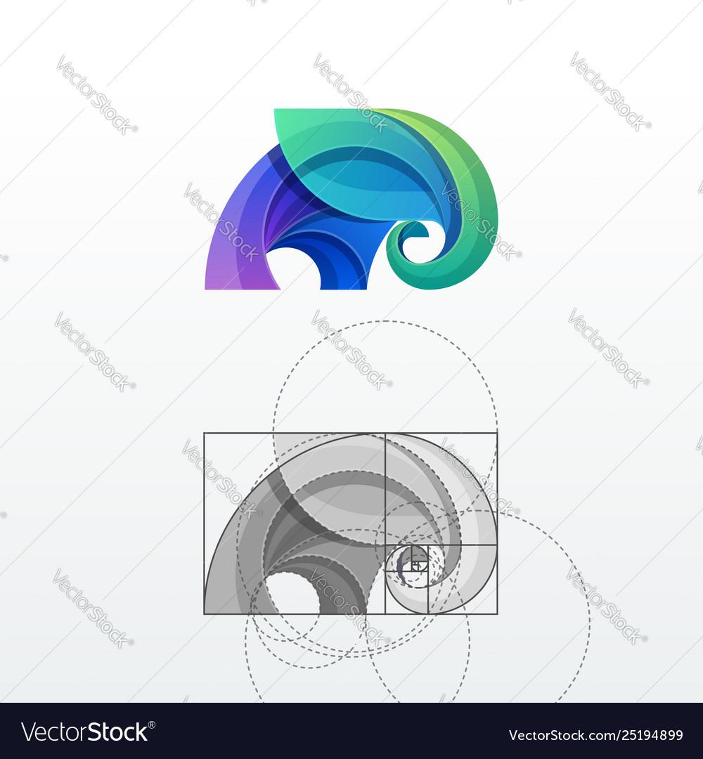 Elephant abstract logo template