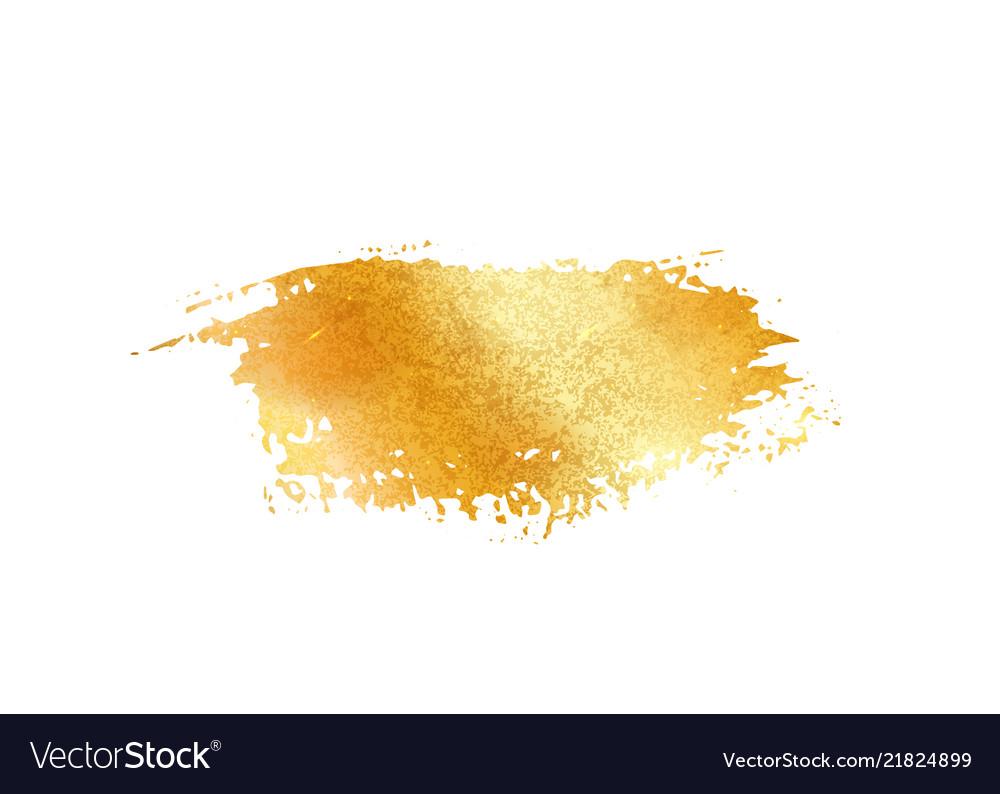 Gold glitter foil brush stroke golden