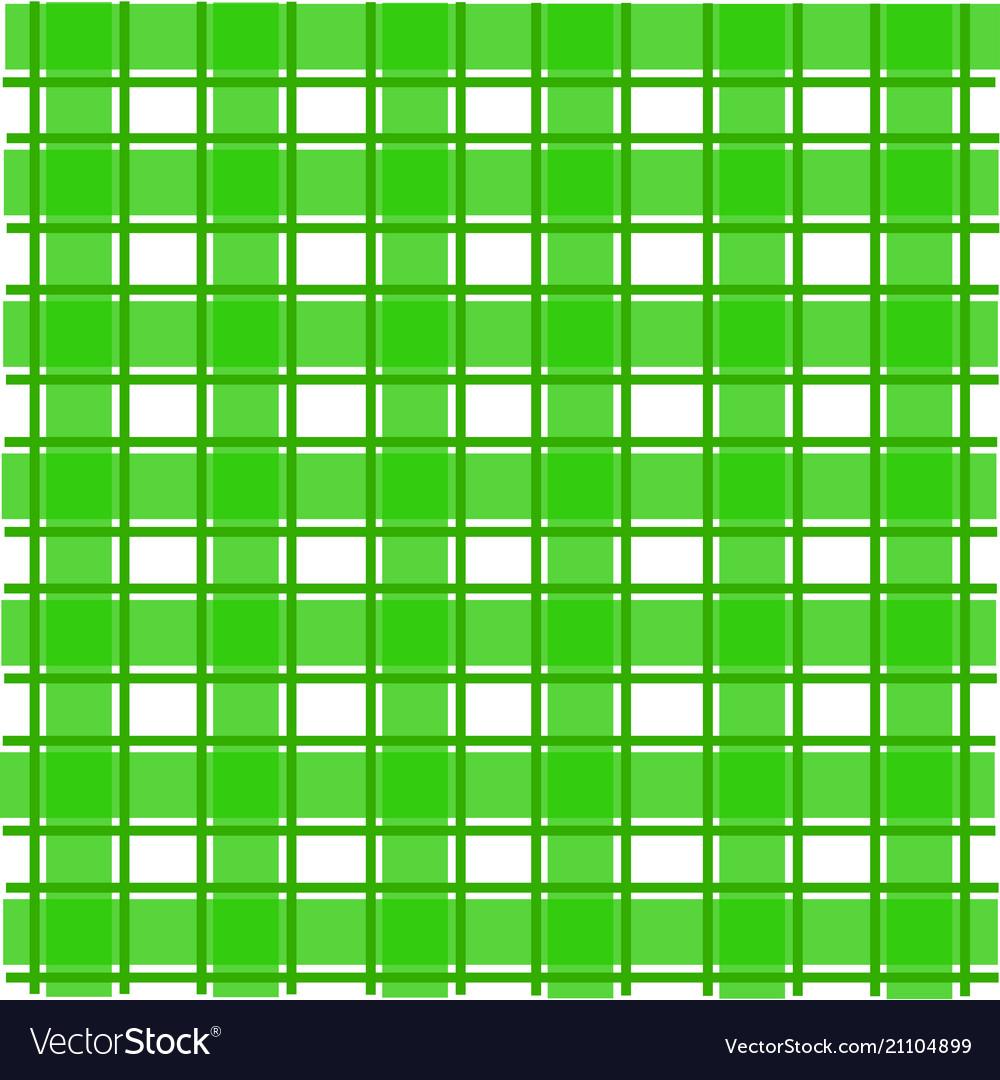 Green scotch pattern
