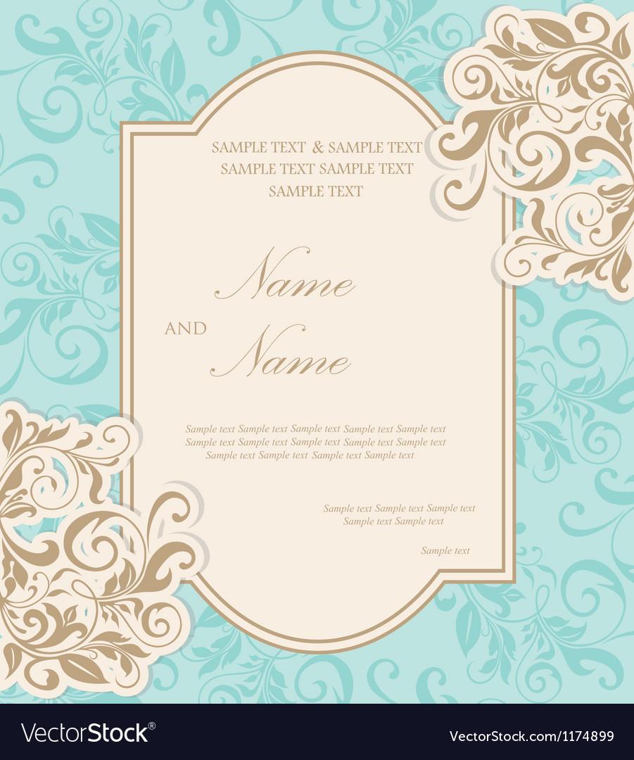 Invitation card vector image