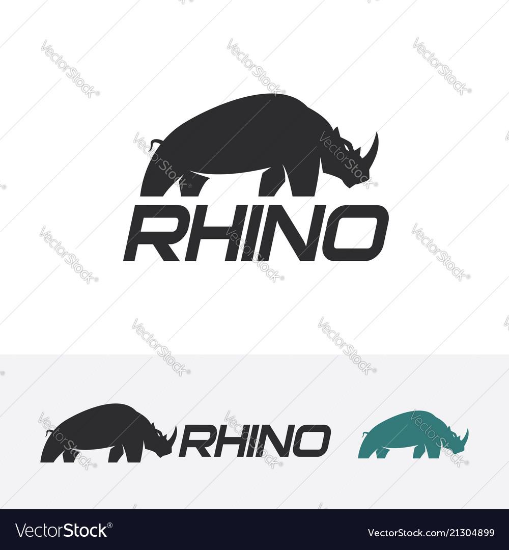 Rhino logo design