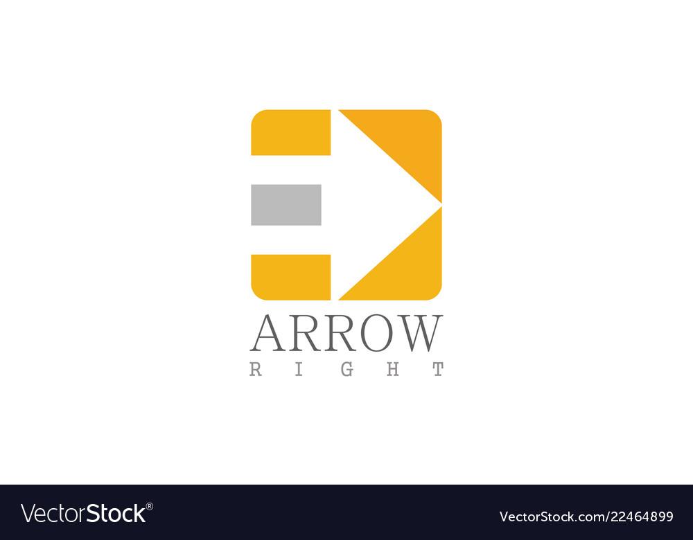 Square arrow right icon logo
