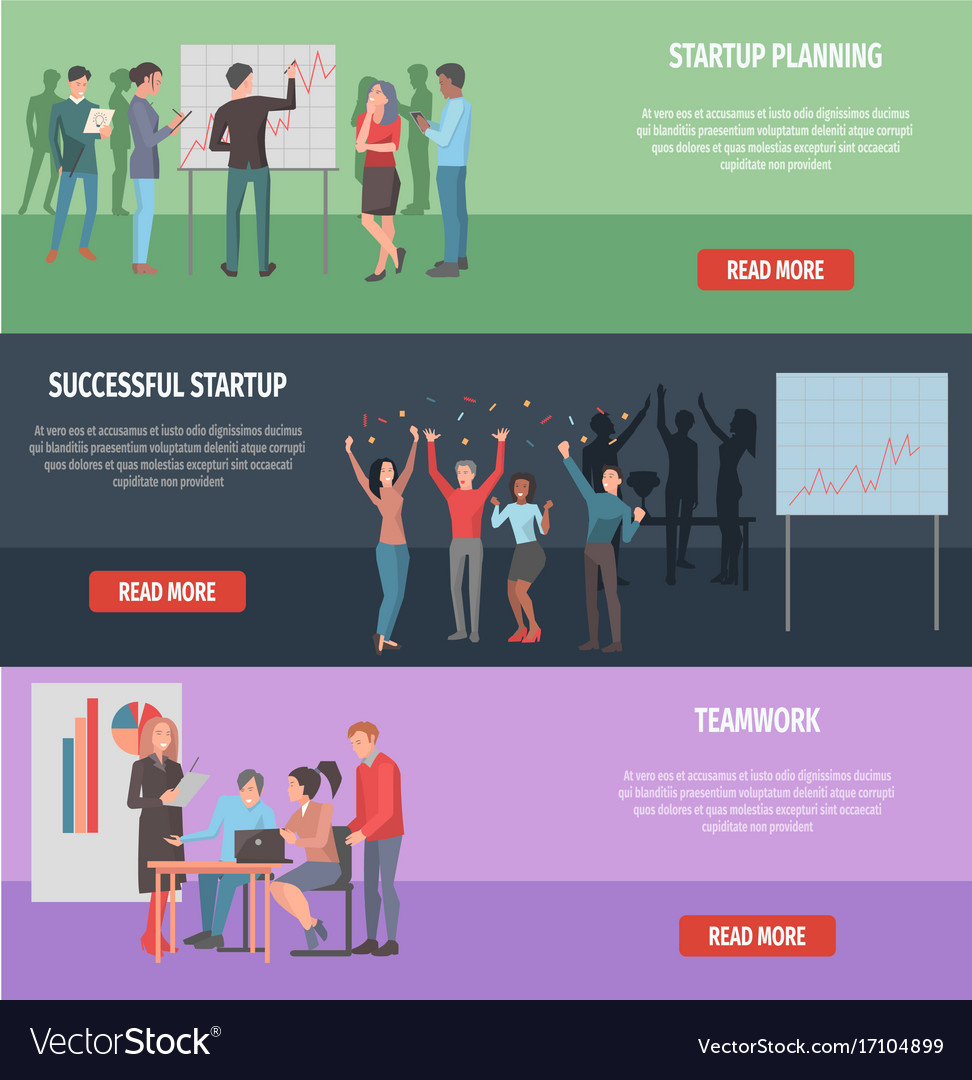 Successful startup internet page