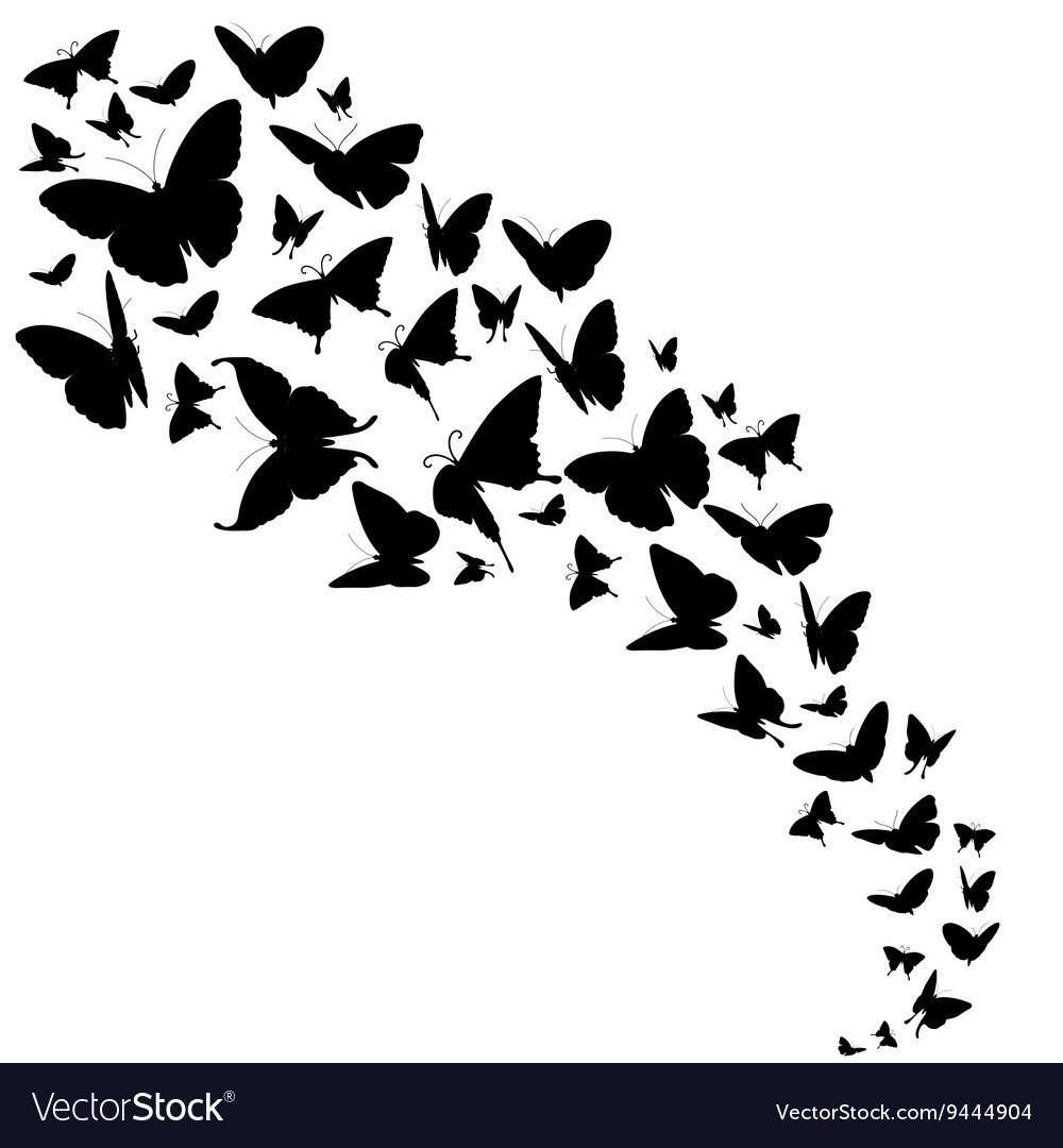 Abstract backdrop with butterflies design