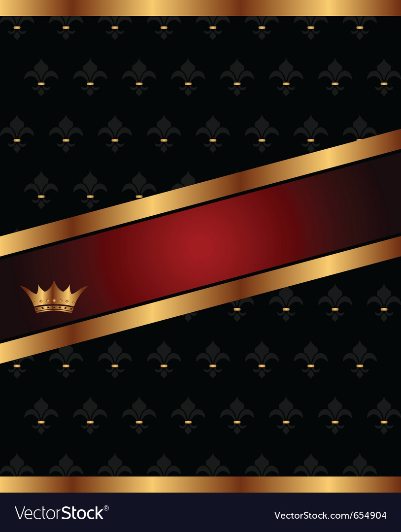 Background with golden luxury crown vector image