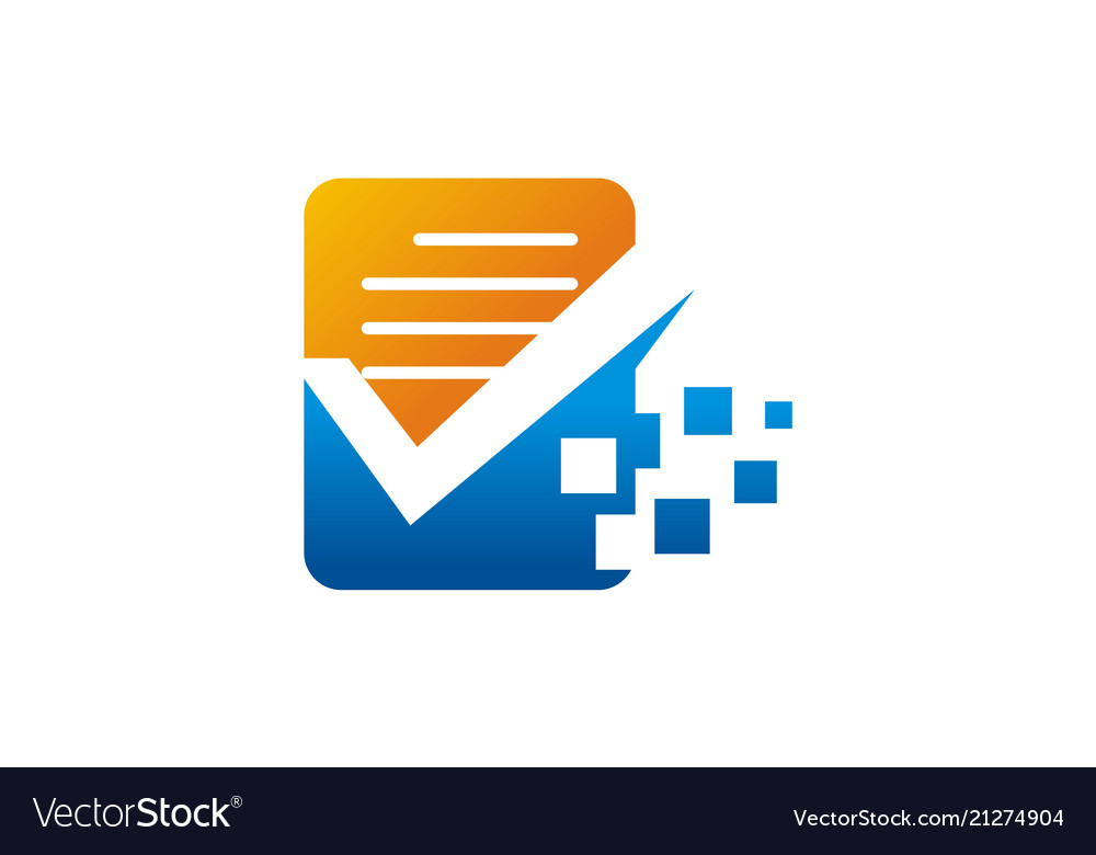 Document data technology logo