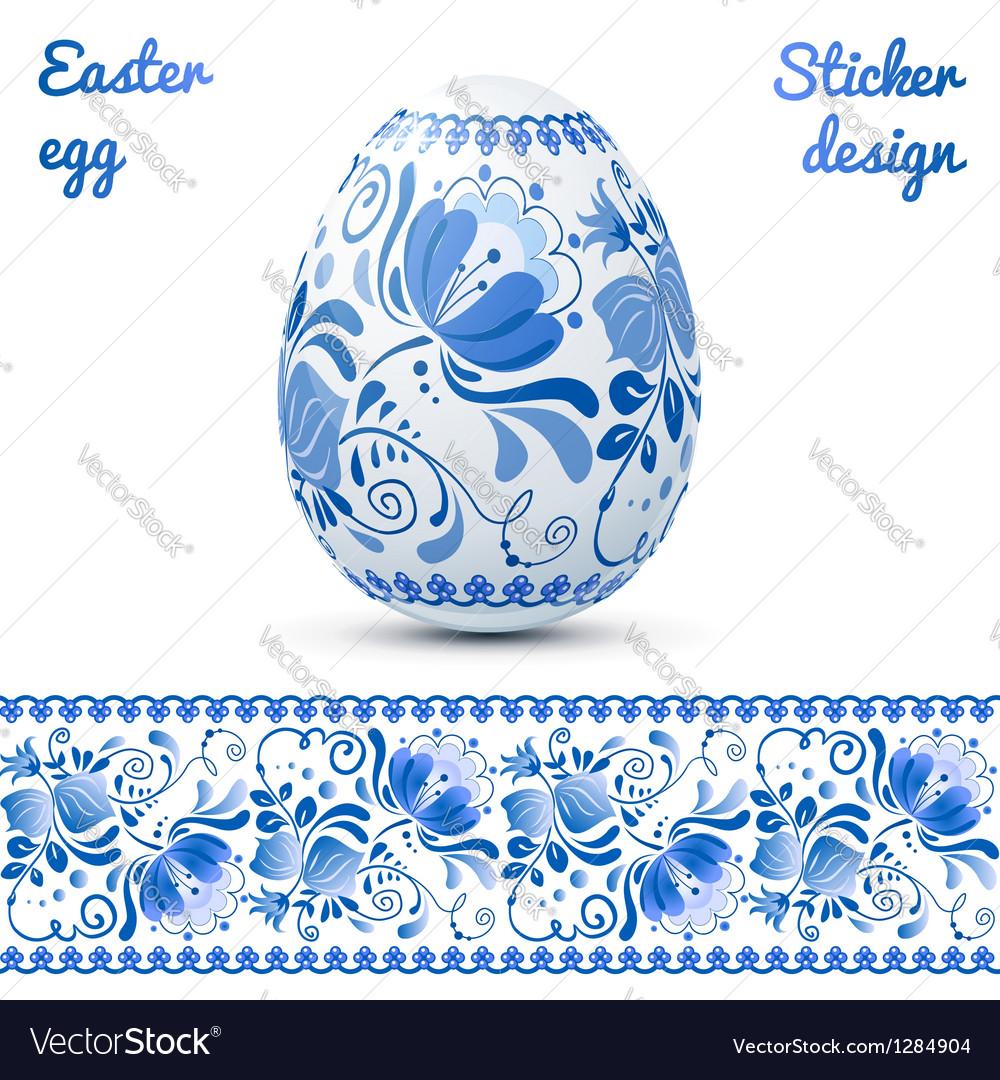 Easter eggs sticker design template