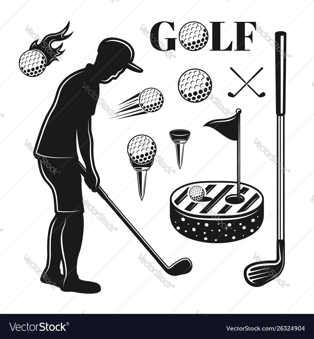 Golf and golfing objects or design elements