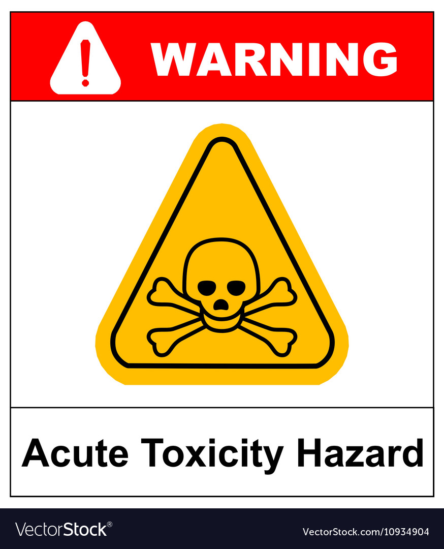 hazard pictogram acute toxicity royalty free vector image