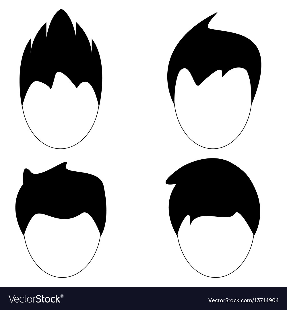 Man hair hairstyle silhouette