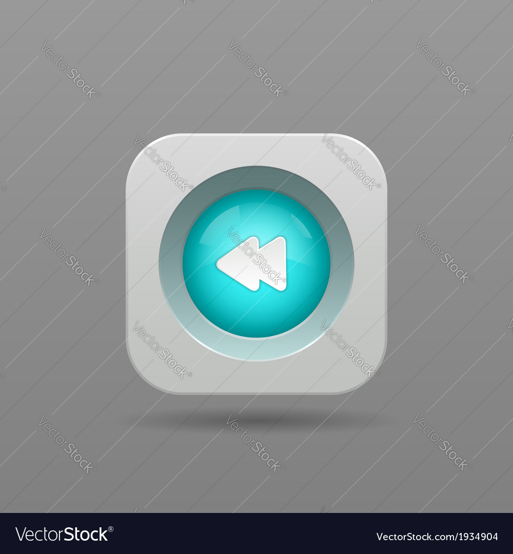 Previous button vector image
