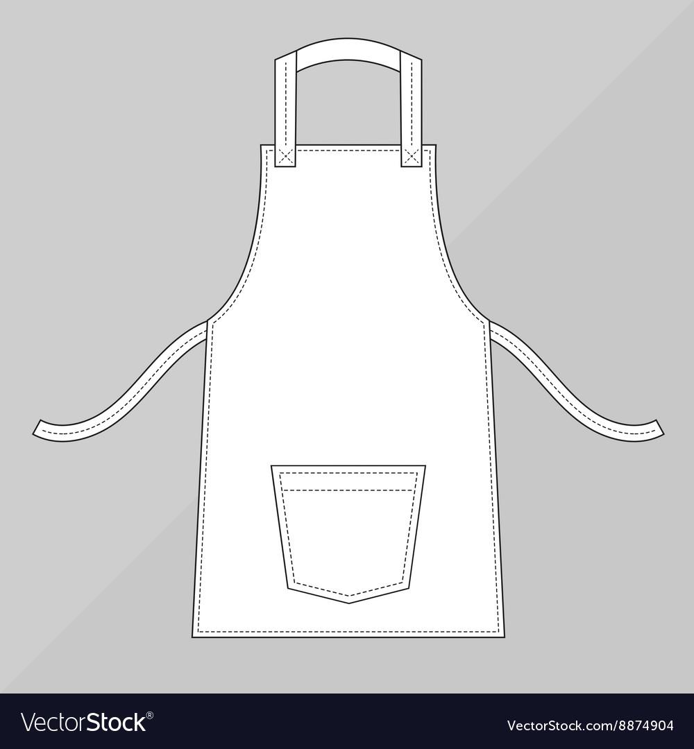 White apron with pocke
