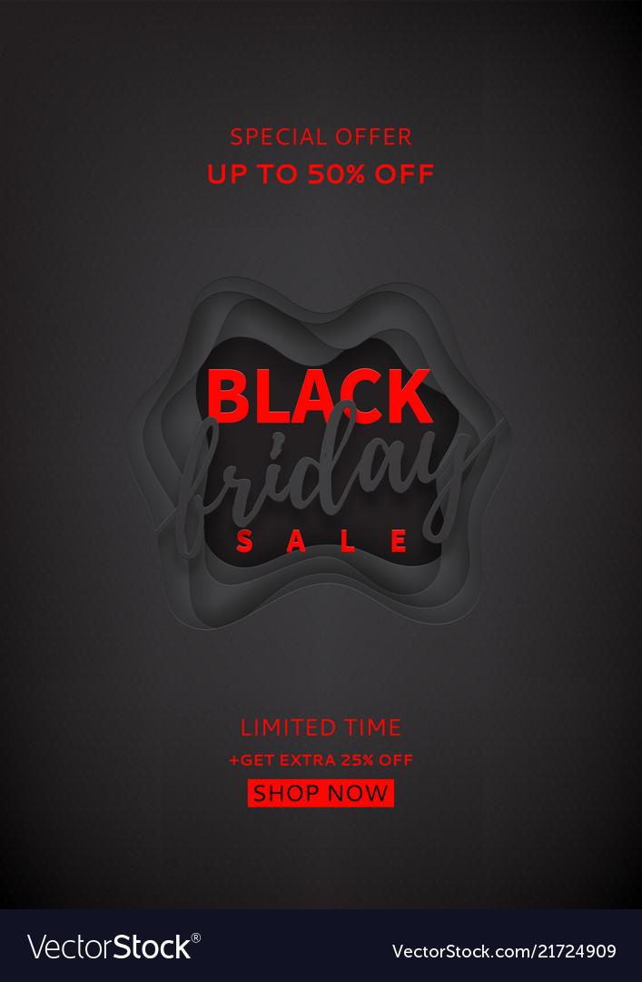 Black poster for black friday sale