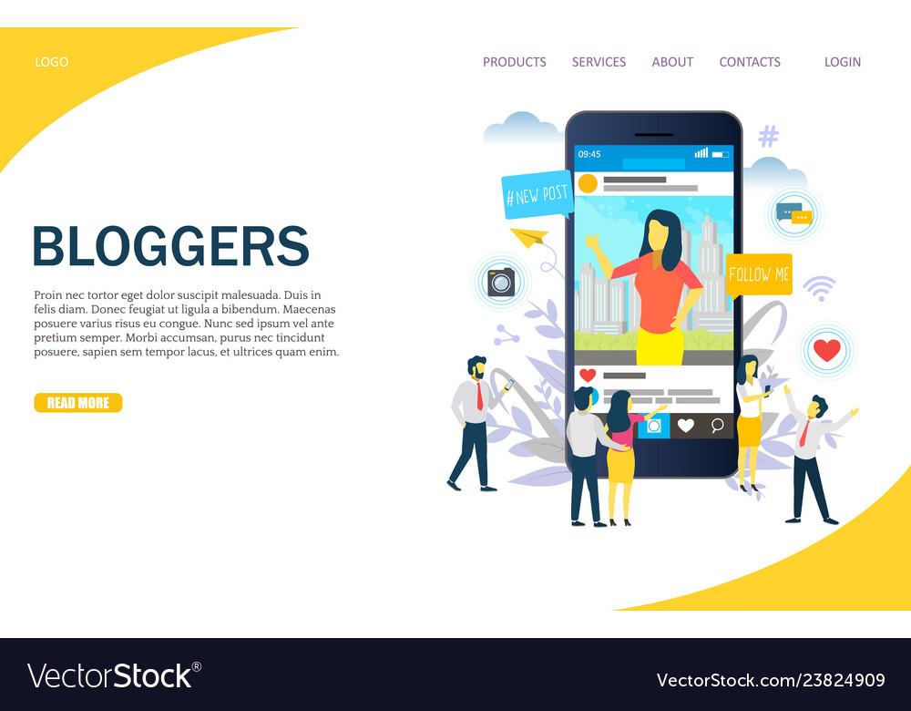 Bloggers website landing page design