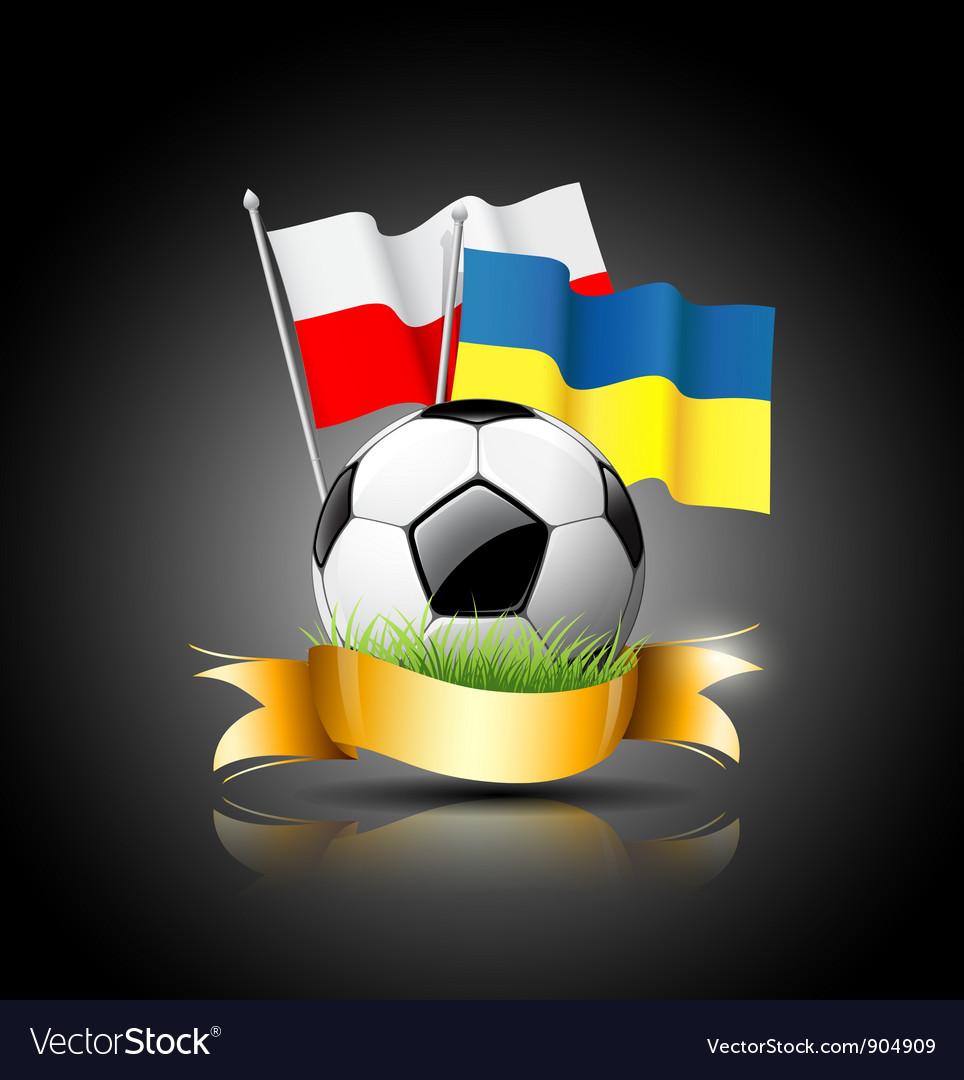 European Football 2012 and flag