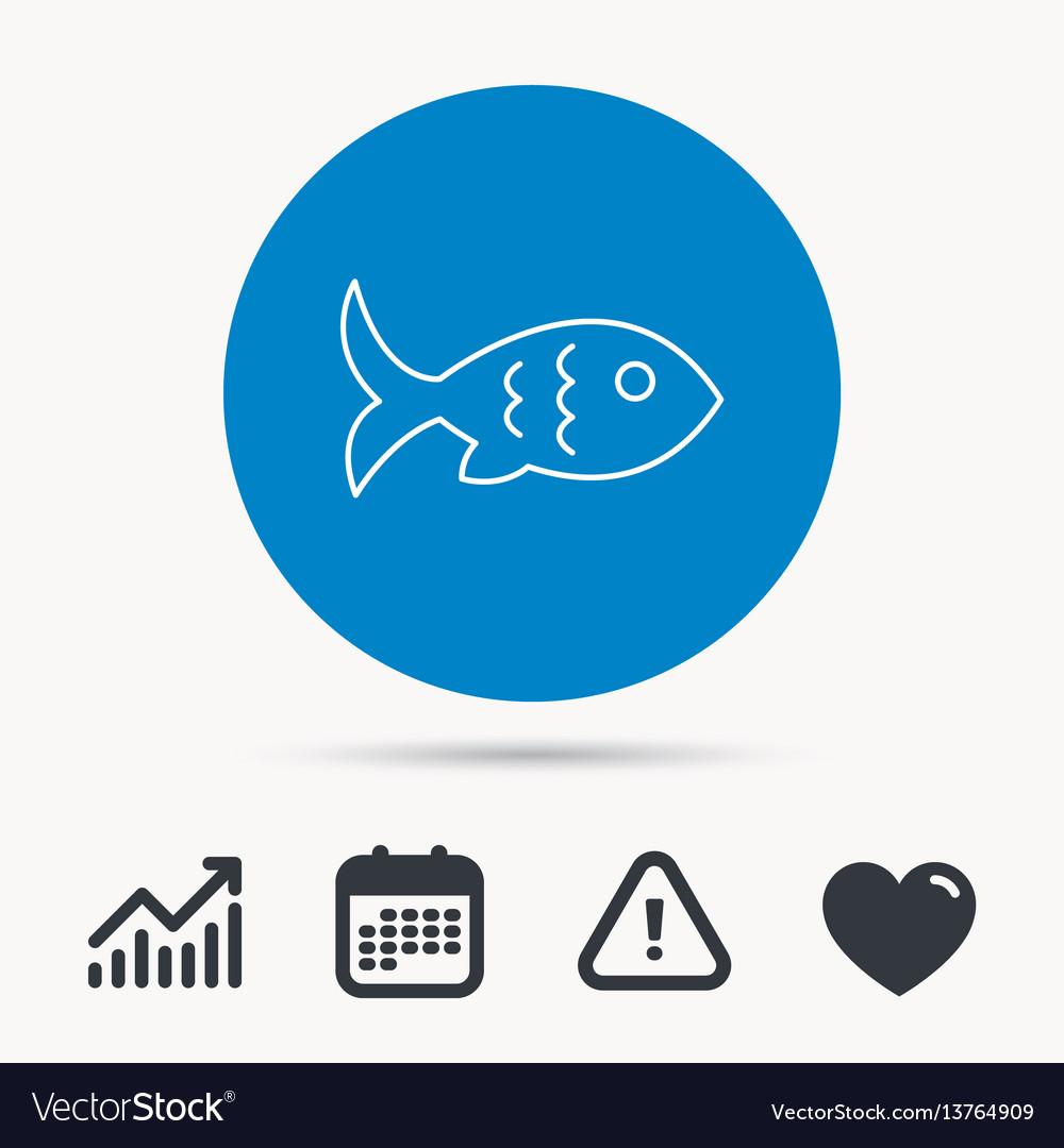 Fish icon seafood sign vegetarian food symbol