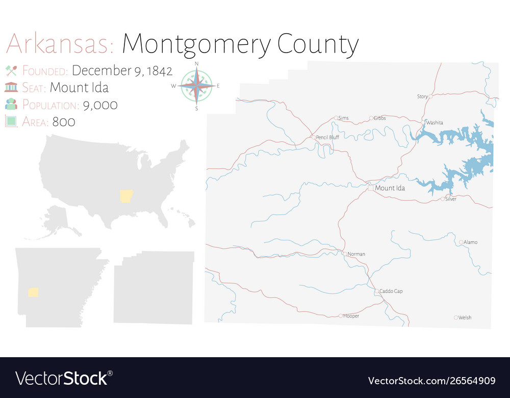 Map montgomery county in arkansas