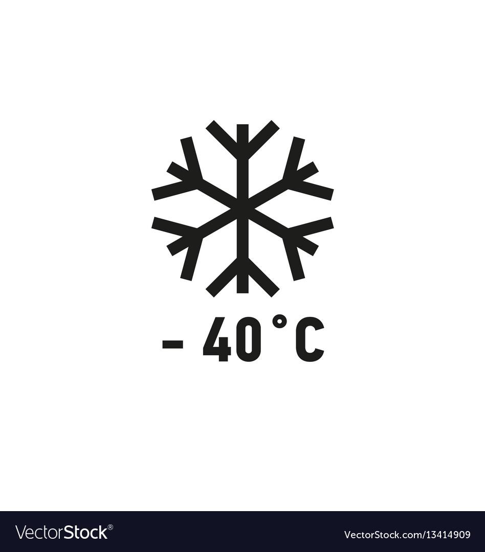 Safe for use on freezer symbol on white background vector image