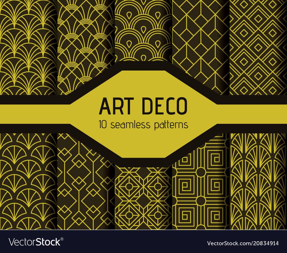 Art decto seamless patterns
