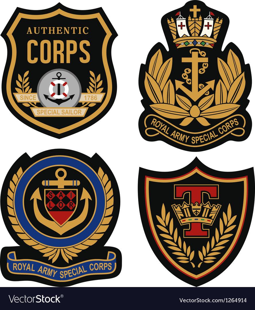 Emblem badge shield vector image
