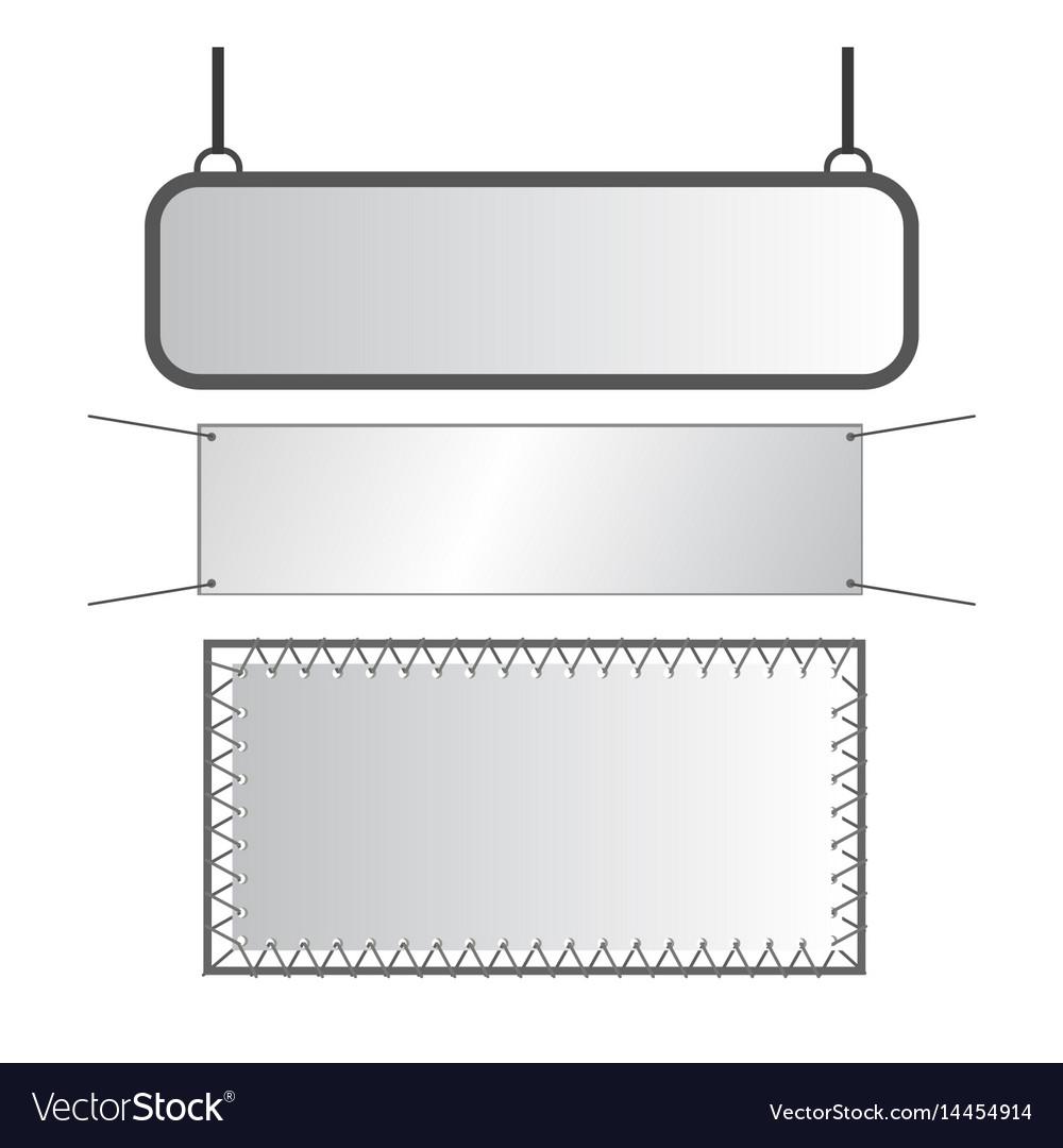 Gray metal signs