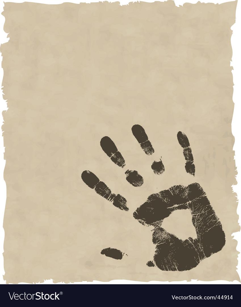 Grunge hand print vector image