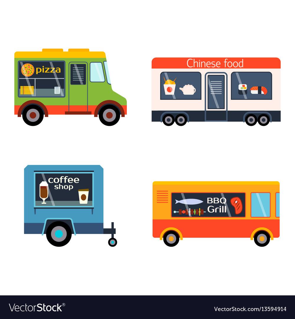 Street food festival color trailer