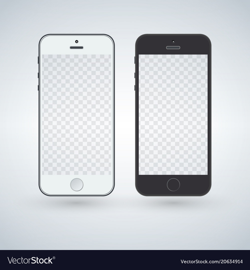 White and black smart phone mockup