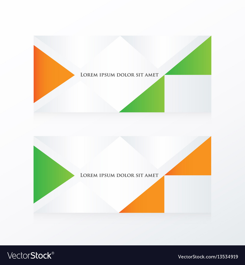 Abstract banner modern orange green