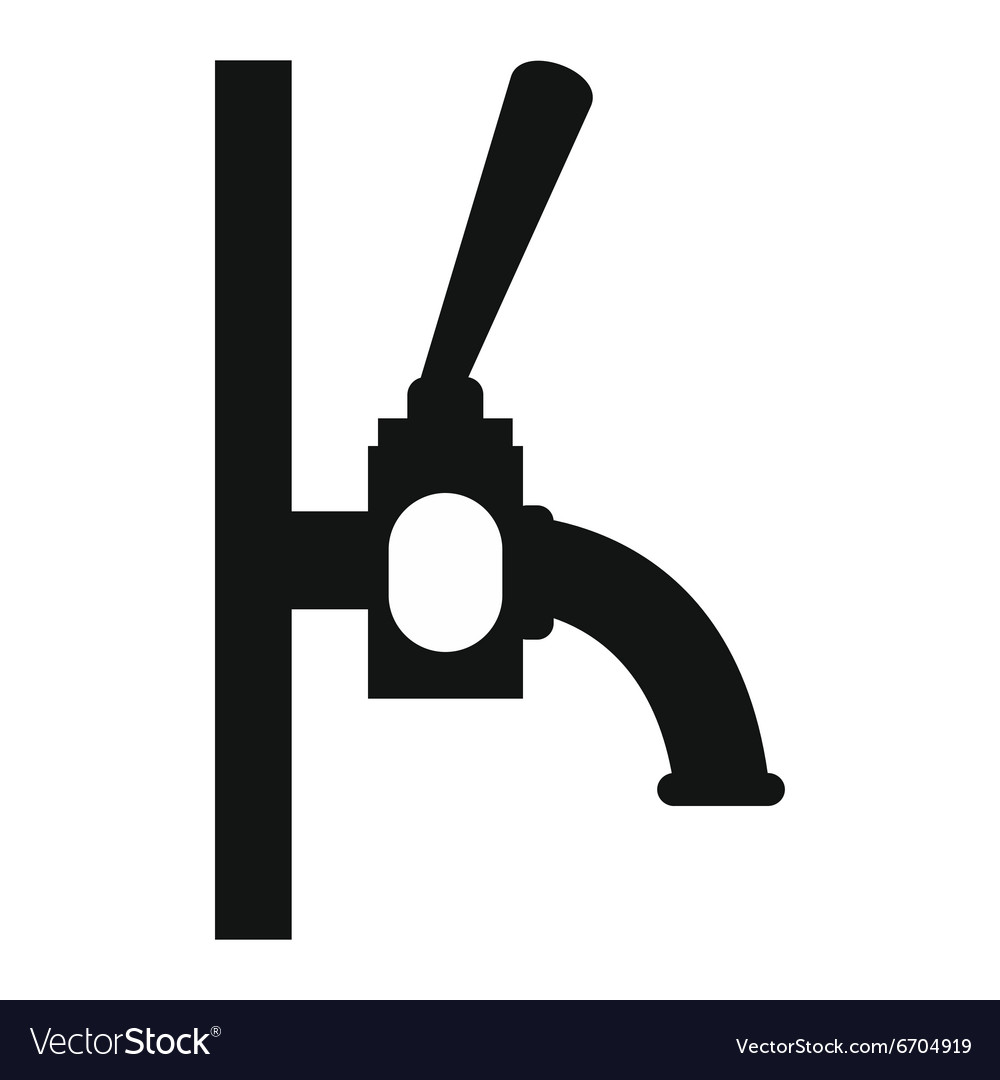 Beer faucet icon Royalty Free Vector Image - VectorStock