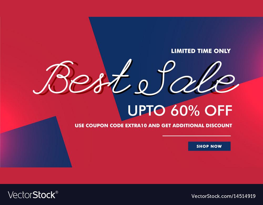 Best Sale Discount Voucher Banner Template Design Vector Image