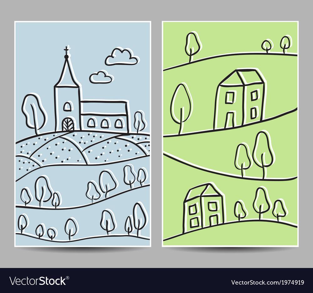Card church and village