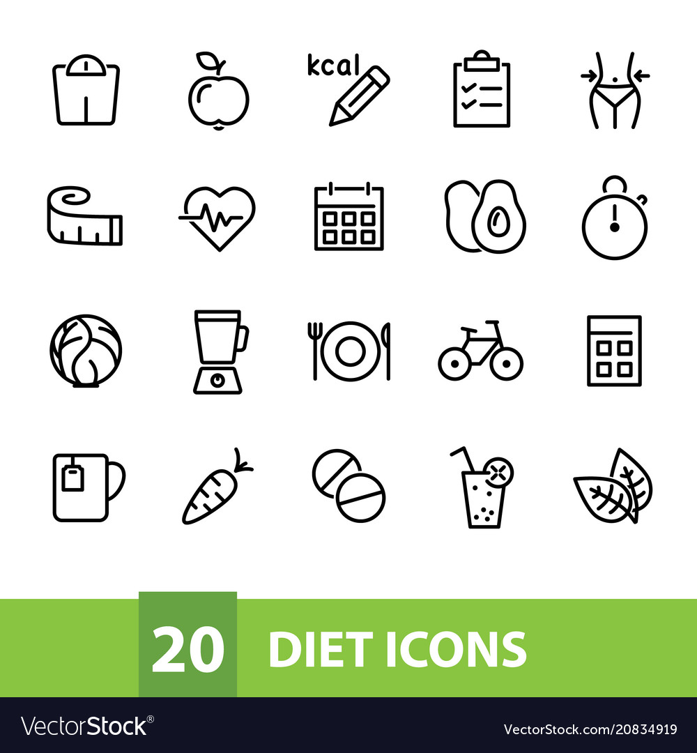 Diet icons collection