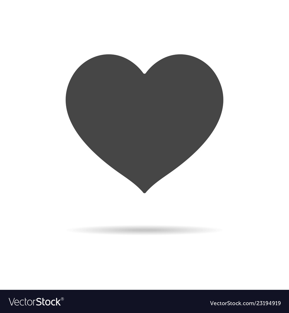Heart icon isolated on a white background