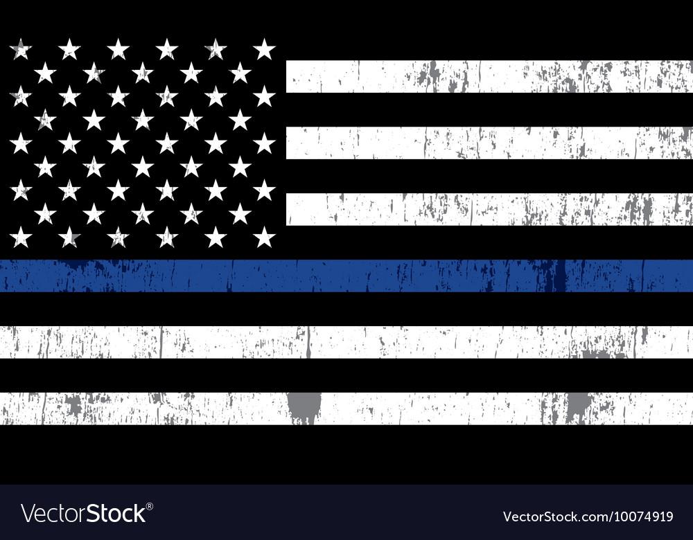 Police Law Enforcement Grunge Flag vector image